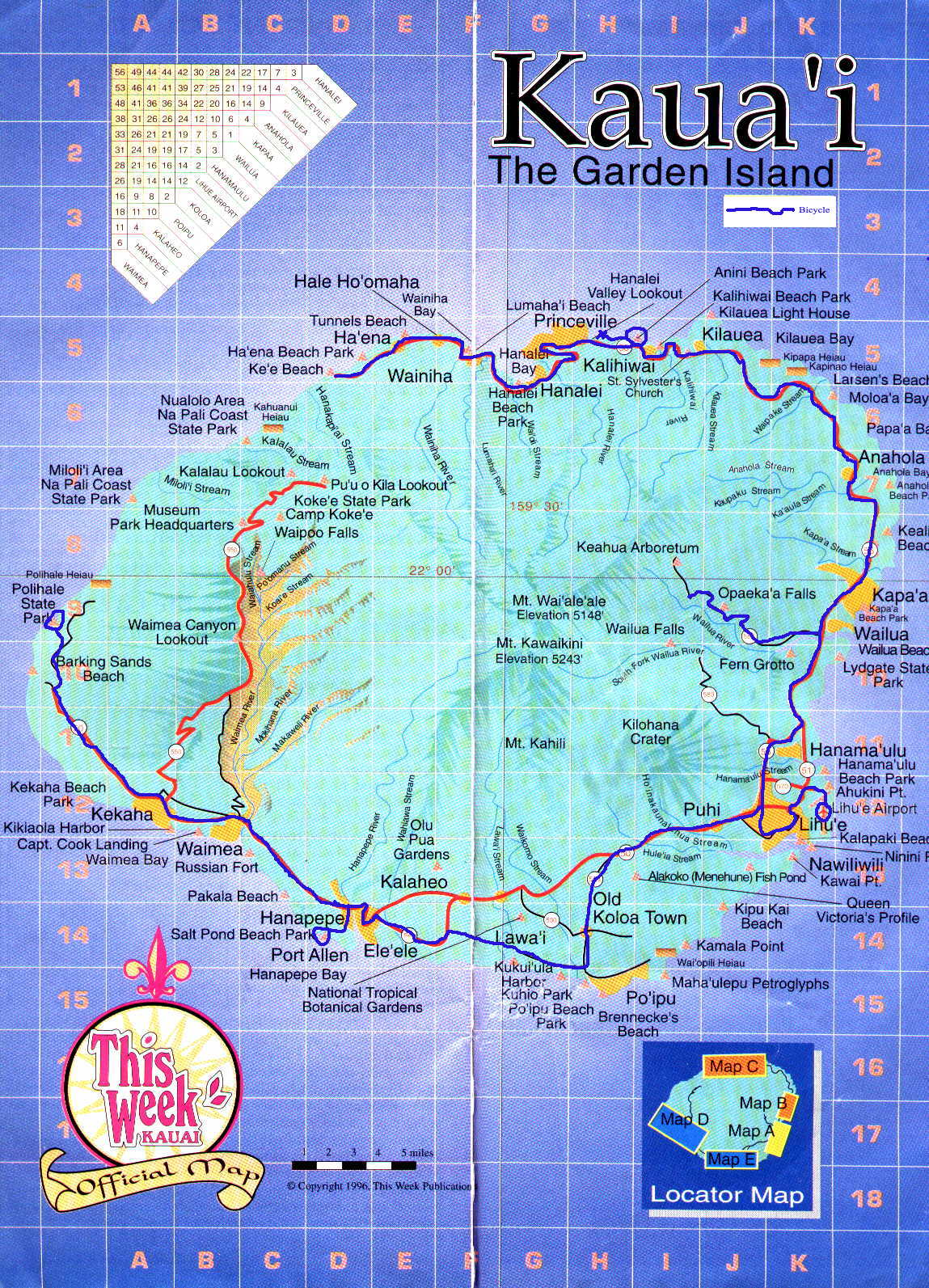 Kauai Tourist Map 52517 – Kauai Tourist Map